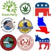 image of many political party logos